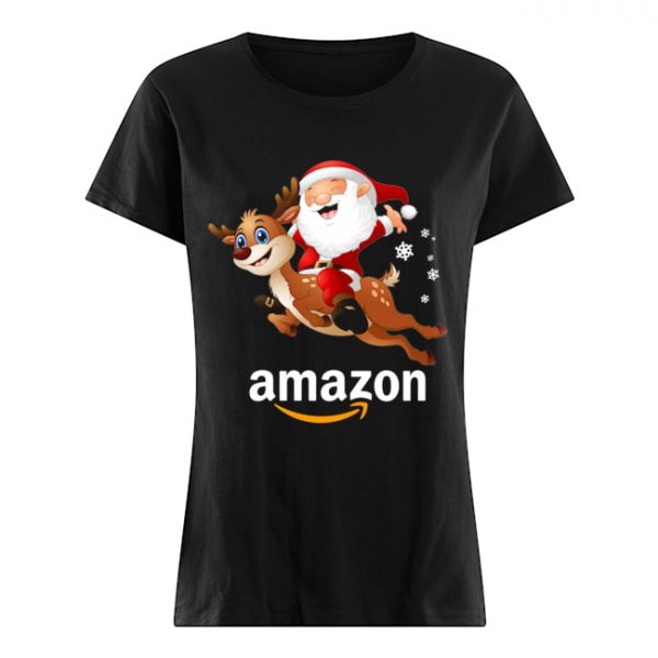 Santa Claus riding reindeer Amazon  Classic Women's T-shirt