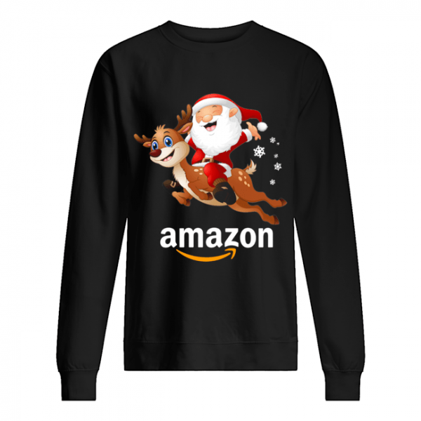 Santa Claus riding reindeer Amazon  Unisex Sweatshirt