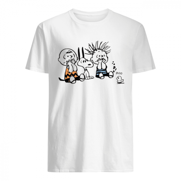 Snoopy and Charlie Brown boo ghost  Classic Men's T-shirt