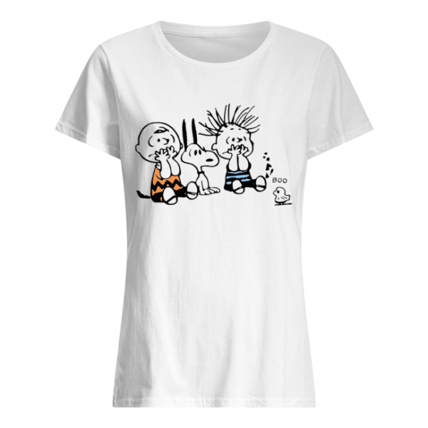Snoopy and Charlie Brown boo ghost  Classic Women's T-shirt