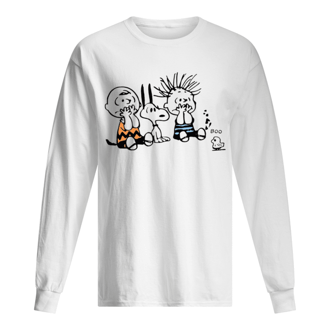 Snoopy and Charlie Brown boo ghost Long Sleeved T-shirt