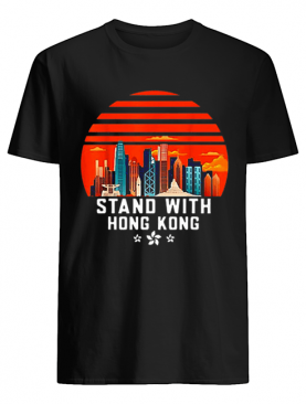 Stand With Hong Kong Sunset shirt