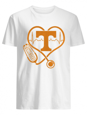 Tennessee Volunteers football nurse stethoscope love heartbeat shirt
