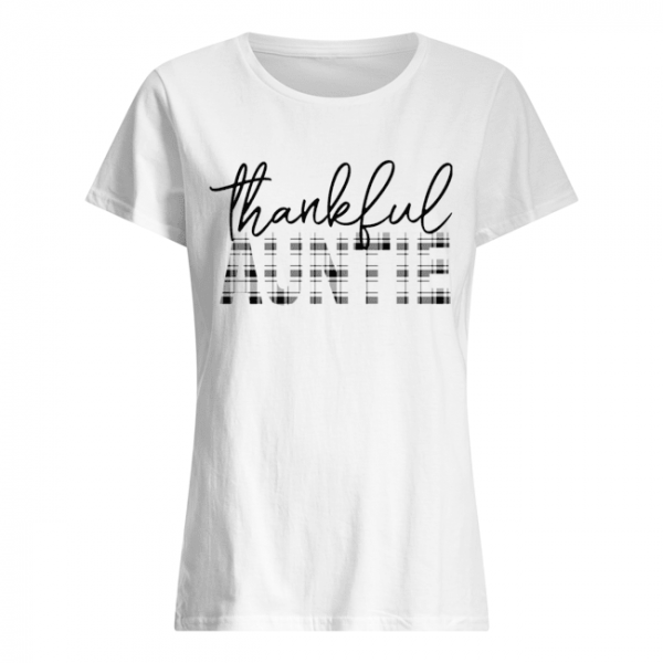Thanksgiving Thankful Auntie Funny Mimi Gift T-Shirt Classic Women's T-shirt