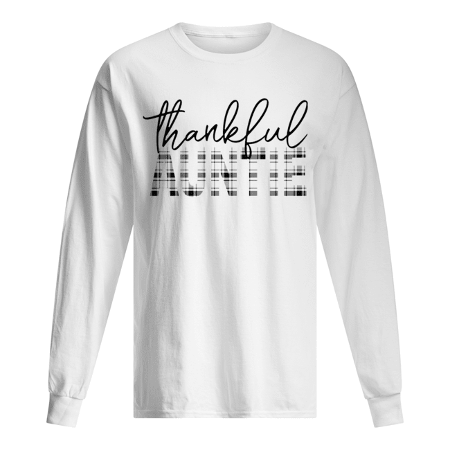 Thanksgiving Thankful Auntie Funny Mimi Gift T-Shirt Long Sleeved T-shirt