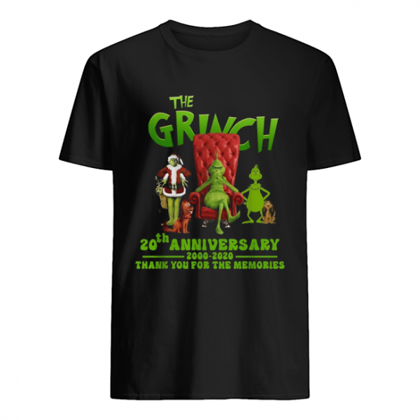 The Grinch 20th anniversary 2000 2020 thank you for the memories  Classic Men's T-shirt