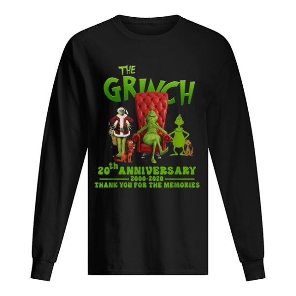 The Grinch 20th anniversary 2000 2020 thank you for the memories  Long Sleeved T-shirt