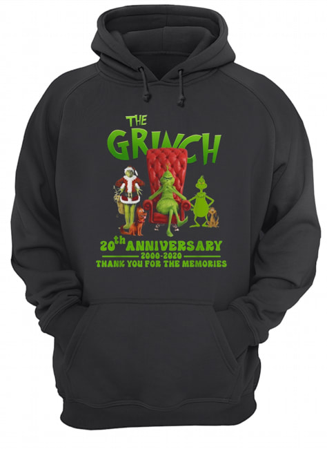 The Grinch 20th anniversary 2000 2020 thank you for the memories  Unisex Hoodie