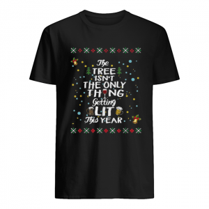 The three isn't the only thing getting lit this year Christmas  Classic Men's T-shirt