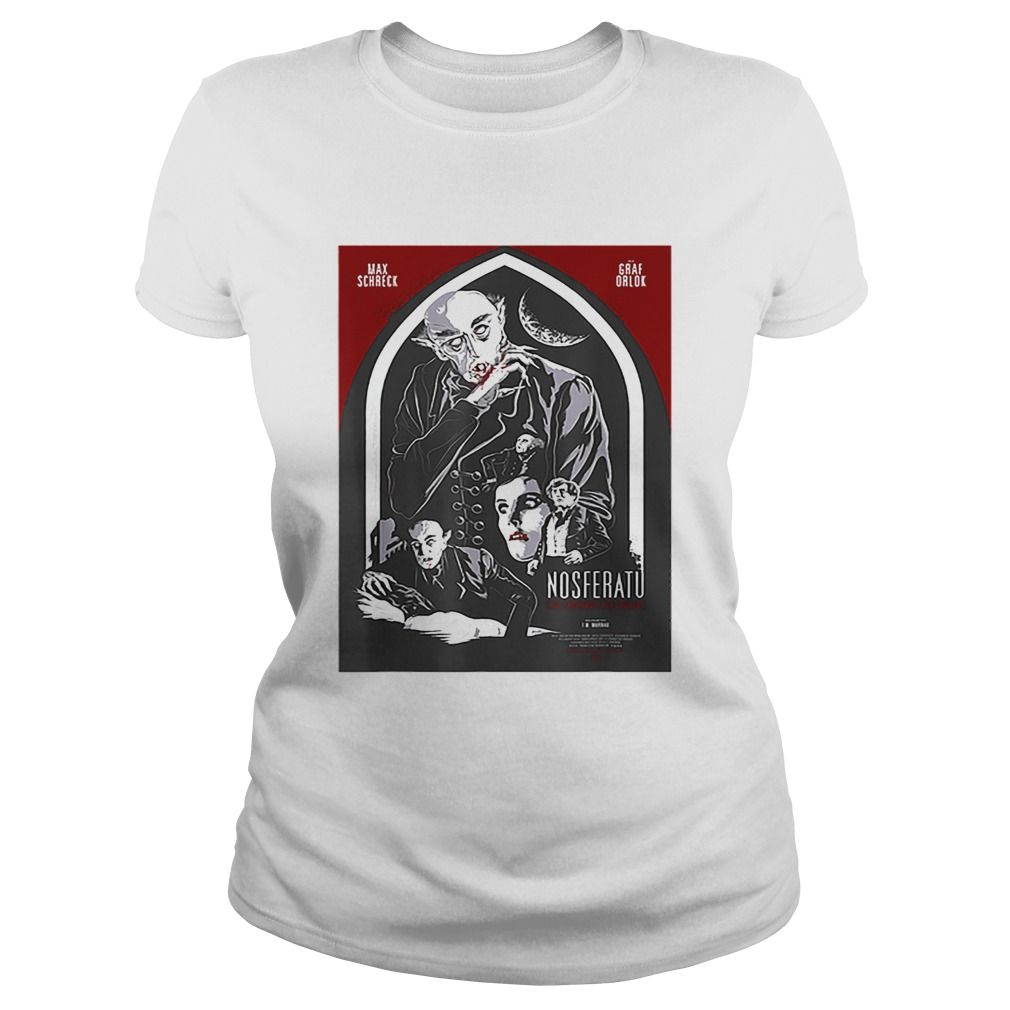 Top Nosferatu Vampire Halloween Horror Sci Fi Classic Ladies