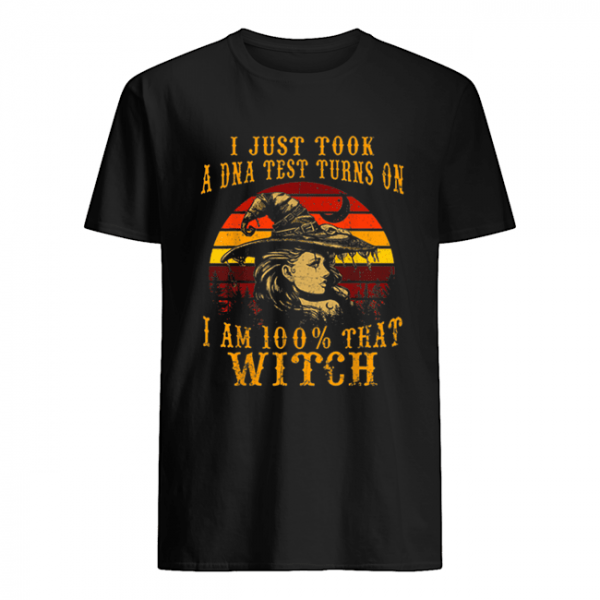 Vintage I Just Took A DNA Test 100% That Witch Halloween  Classic Men's T-shirt