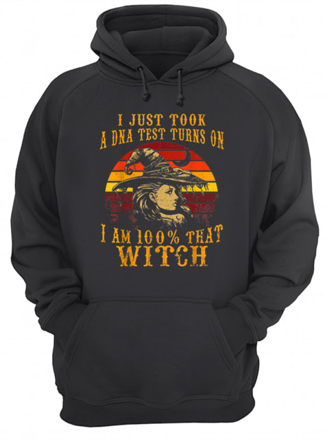 Vintage I Just Took A DNA Test 100% That Witch Halloween  Unisex Hoodie