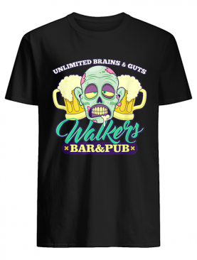 Walkers Bar And Pub Funny Zombie Halloween shirt