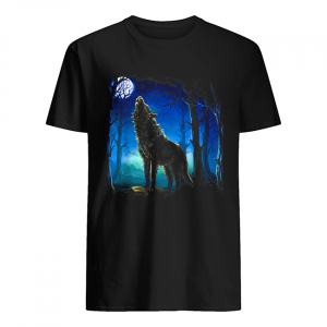 Wolf galaxy Moon  Classic Men's T-shirt