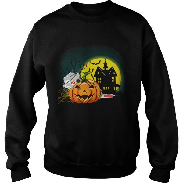 Womens Nurse PumpkinsWomens Halloween Pumpkin Scrubs TShirt Sweatshirt