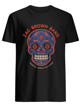 Zac Brown Band – Sugar Skull Halloween Day of the Dead shirt