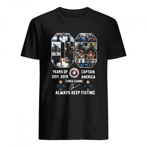 08 years of Captain America 2011 2019 Chris Evans  Classic Men's T-shirt
