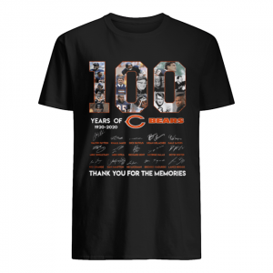 100 years of 1920-2020 Chicago Bears signatures  Classic Men's T-shirt