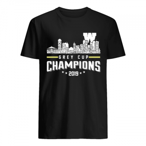 107th Grey Cup Blue Bombers Building Players Champions 2019  Classic Men's T-shirt