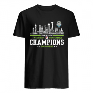2019 MLS Cup Western Conference Champions Sounders building  Classic Men's T-shirt