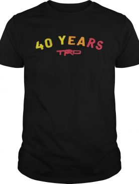 Anniversary 40 Years TRD shirt