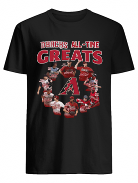 Arizona Diamondbacks all time great players signatures shirt