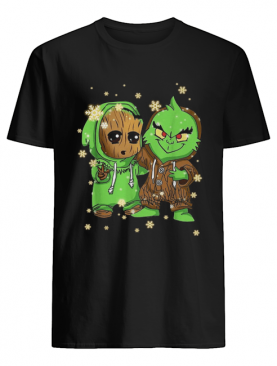 Baby Groot and Grinch Christmas shirt