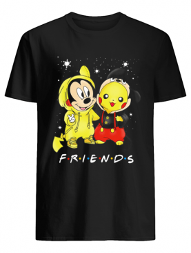 Baby Mickey Mouse And Pikachu Friends Christmas shirt