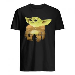 Baby Yoda Sunset  Classic Men's T-shirt