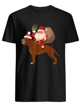 Beautiful Santa Riding Cane Corso Christmas Pajama Gift shirt