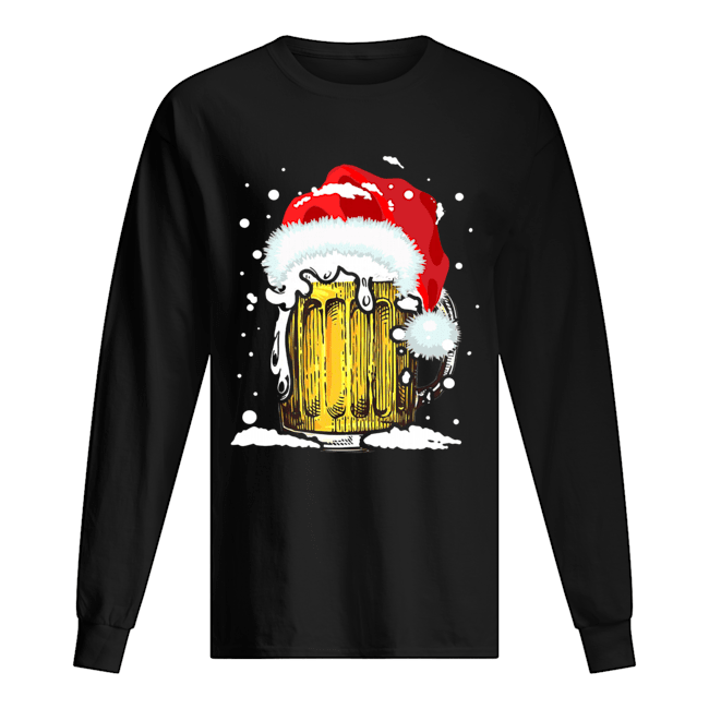 Beer Santa Ugly Christmas Long Sleeved T-shirt