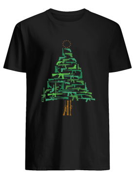Christmas Tree Green Gun shirt