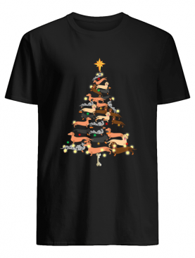 Dachshunds Christmas Tree shirt