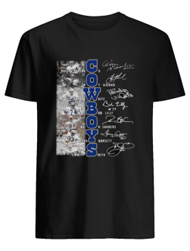 Dallas Cowboys Roger Staubach Troy Aikman Randy White Signatures shirt