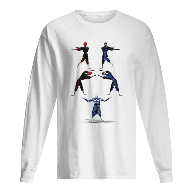 Darth Maul and Sub-Zero Fusion Night King Long Sleeved T-shirt