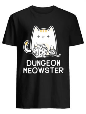 Dungeon meowster dungeons and dragons cat shirt