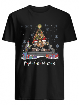 Friends Tv Show Harry Potter christmas tree shirt