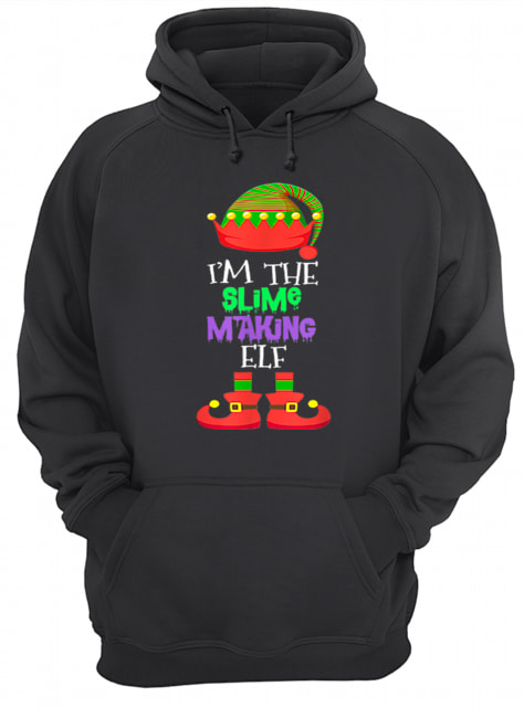 I'M THE Slime Making ELF Christmas Xmas Elf Group Costume  Unisex Hoodie