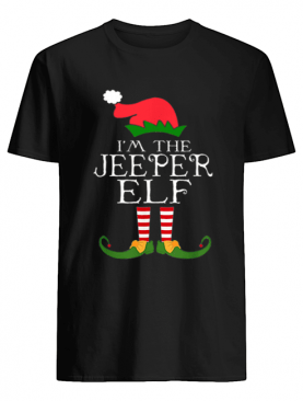 I'm The Jeeper ELF Santa Hat Jeep Lovers Merry Christmas shirt