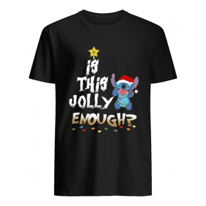 Is this Jolly Enough Stitch Christmas  Classic Men's T-shirt