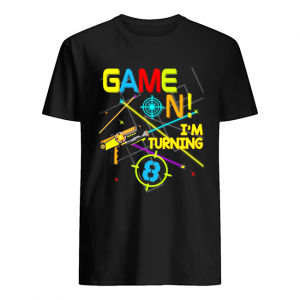 Laser Tag Birthday Party Game On Im Turning 8  Classic Men's T-shirt
