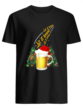 Let It Brew Beer Santa Hat Funny shirt