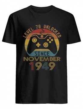 Level 70 Unlocked Since November 1949 Vintage shirt