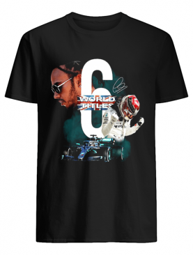 Lewis Hamilton 6 World Titles Signature shirt