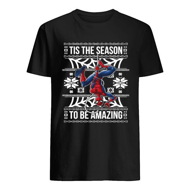 Marvel Spider Man Tis The Season To Be Amazing Ugly Christmas Classic Men's T-shirt