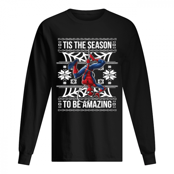 Marvel Spider Man Tis The Season To Be Amazing Ugly Christmas  Long Sleeved T-shirt