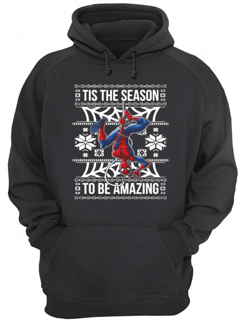 Marvel Spider Man Tis The Season To Be Amazing Ugly Christmas  Unisex Hoodie