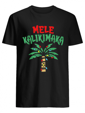 Mele Kalikimaka Palm Tree Hawaiian Christmas In July shirt