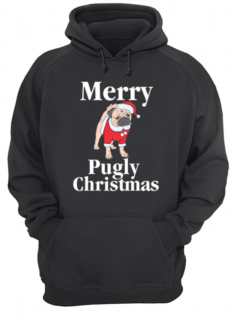 Merry Pugly Christmas Pug Xmas Dog Lover  Unisex Hoodie