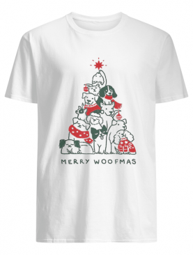 Merry Woofmas Funny Dogs Christmas Tree Xmas Gift shirt